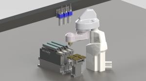 Asycube SmartSight mit Scara Roboter