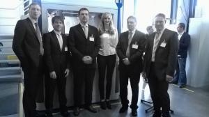Gilbert Schmied (EPSON), Heiko Röhrig (EGS), Dirk Folkens (EPSON), Sabine Strangfeld (EGS), Klaus Rauer (EPSON), Thorsten Diergardt (KBA)